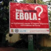 Panneau Ebola à Conakry/ Ebola pannel in Conakry