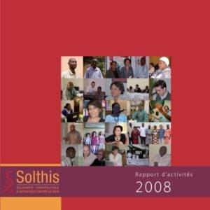 Couverture du rapport d'activité 2008