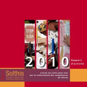 Couverture du rapport d'activité 2010