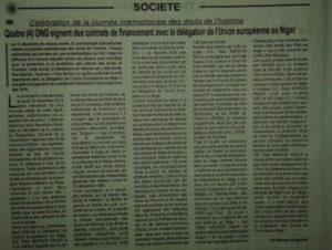 Solthis dans la presse – Journal Le Sahel