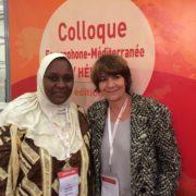 Roubanatou Abdoulaye Mamadou avec notre Présidente Christine Katlama