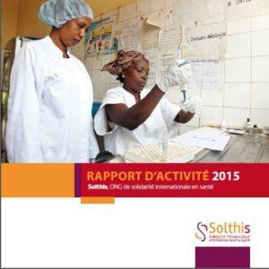 Rapport d'activité 2015 Solthis