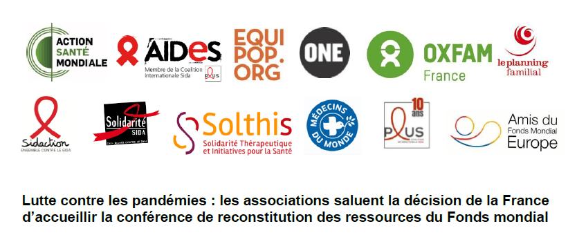 Communiqué de Presse : Lutte contre les pandémies : les associations saluent la décision de la France d'accueillir la conférence de reconstitution des ressources du Fonds mondial