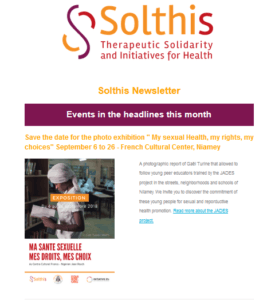 Newsletter Solthis - Aout 2018