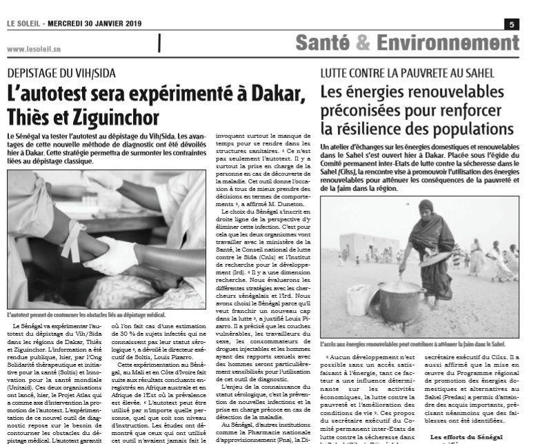 Solthis, Sénégal, autotest VIH