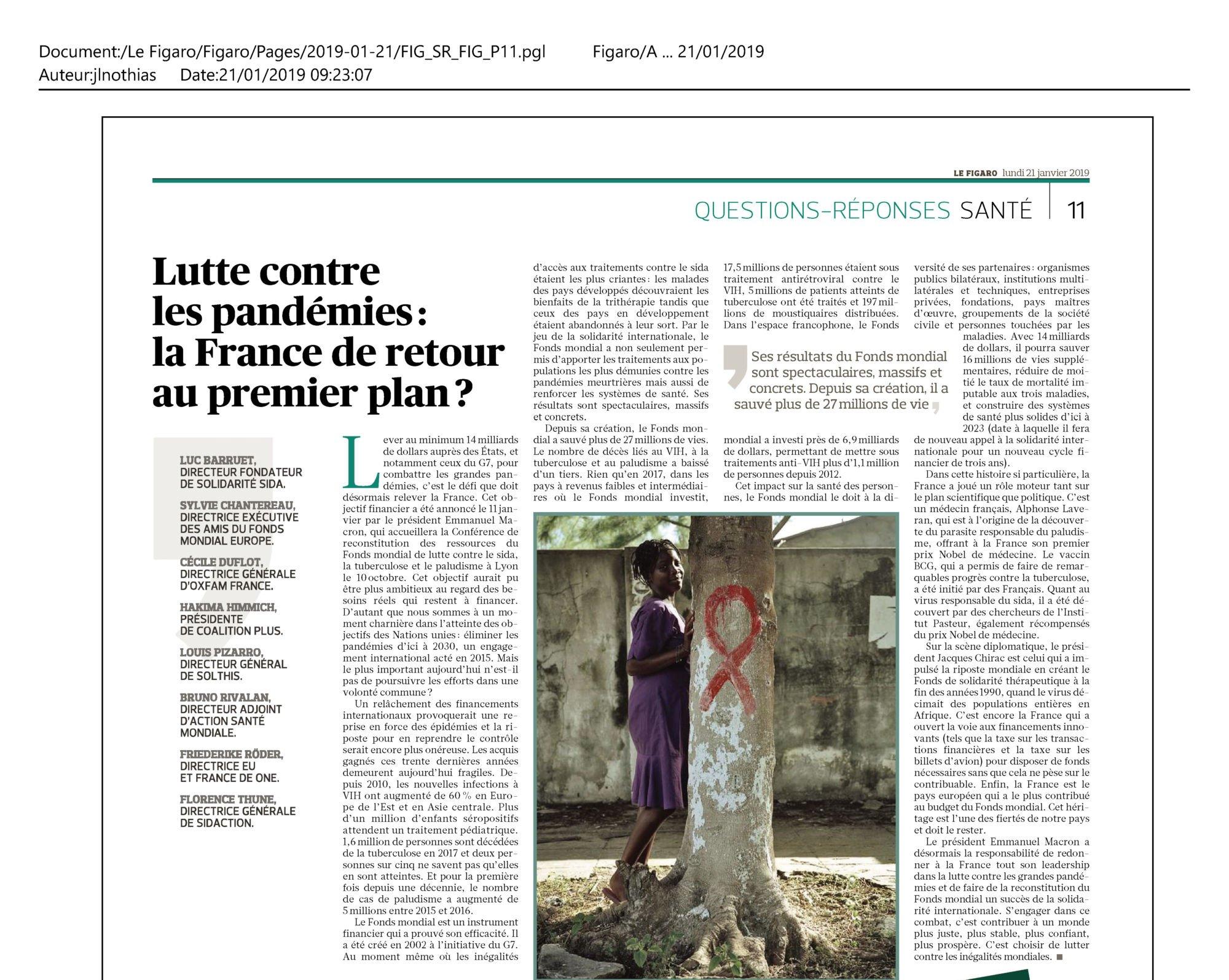 Lutte contre les pandémies : la France de retour au premier plan ?