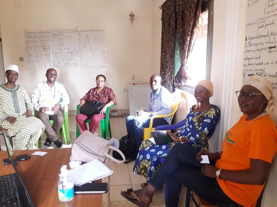 Meeting with healthworkers -Guinea